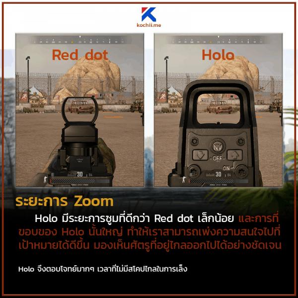 ของแต่งปืน pubg red dot vs holo 3