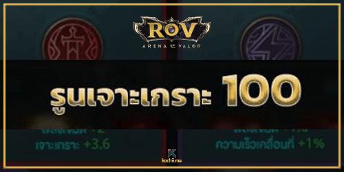 รูนเจาะเกราะ 100