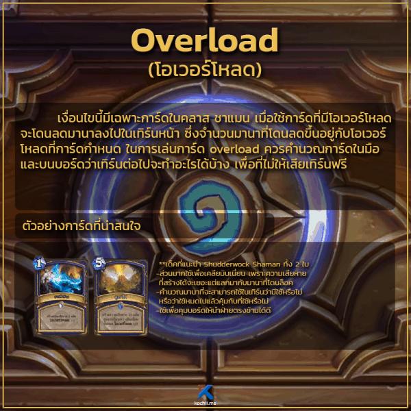 keyword ความสามารถของการ์ด overload