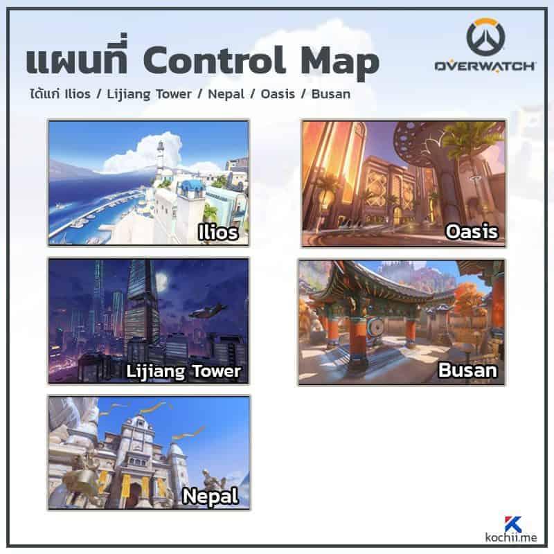 เทคนิคการเล่น control map