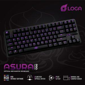 asura pro gaming keyboard เกมมี่งคีย์บอร์ด optical
