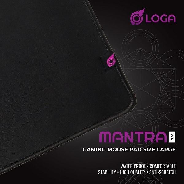 LOGA MANTRA Mousepad แผ่นรองเมาส์กันน้ำ