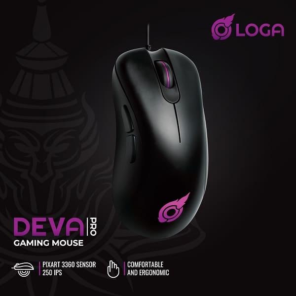 logo deva pro gaming mouse เกมมิ่งเมาส์