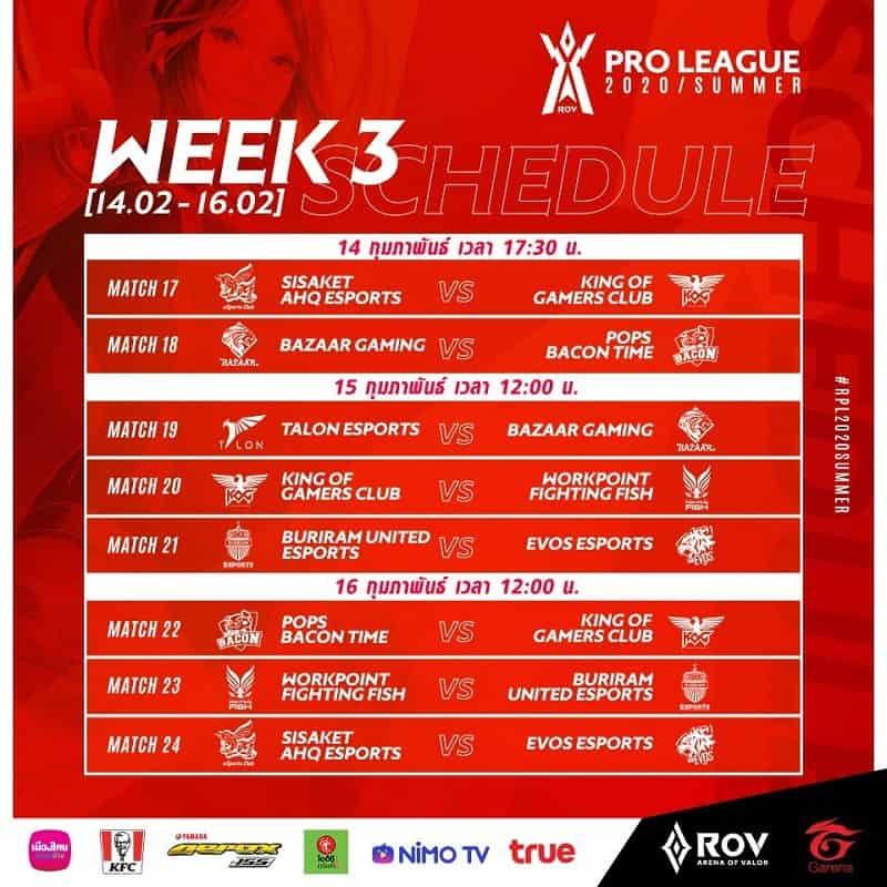 RoV Pro League 2020 Summer สัปดาห์ที่ 2