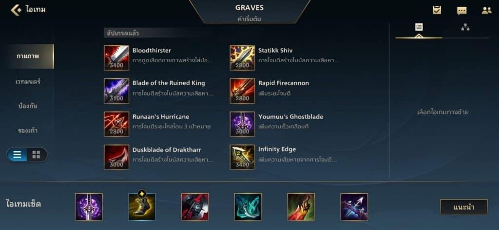 เทคนิคการออกของ Graves